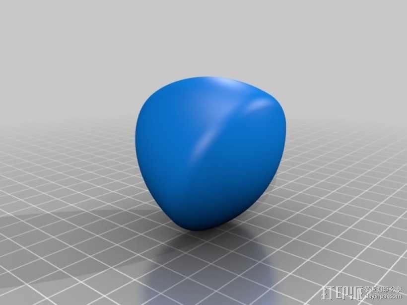 勒洛三角形模型 3D模型  图2
