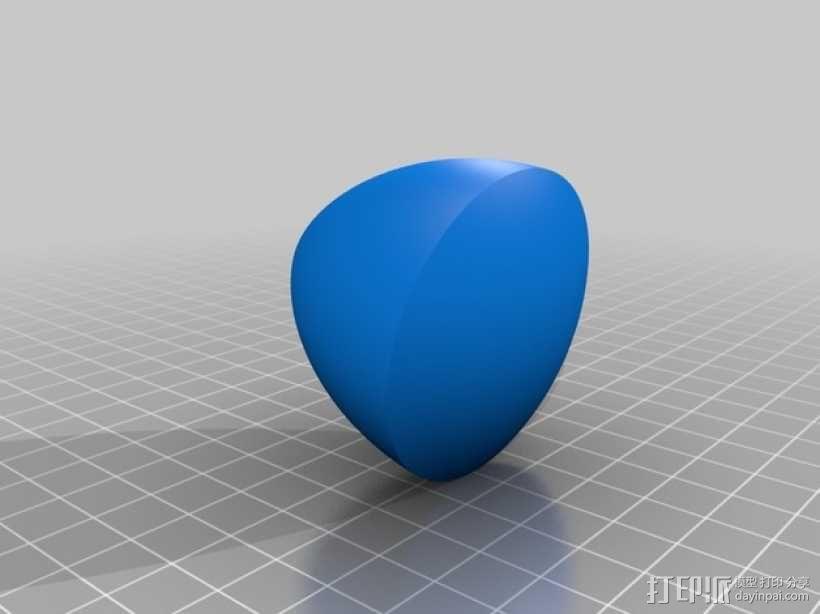 勒洛三角形模型 3D模型  图3