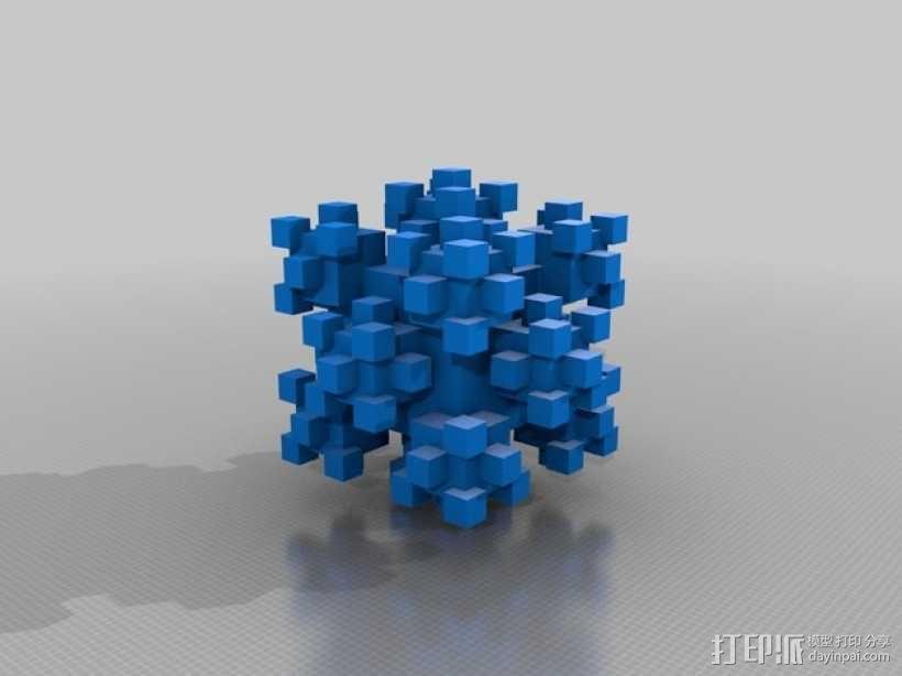 分形几何体 3D模型  图1