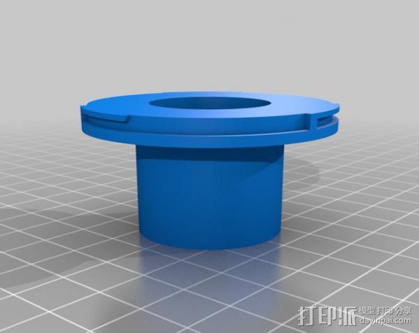 望远镜适配器 3D模型  图2