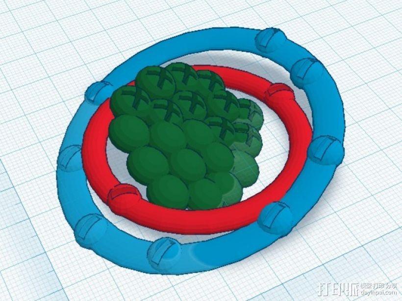 氖原子模型 3D模型  图1