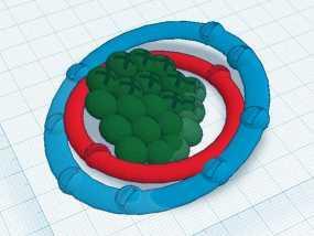 氖原子模型 3D模型