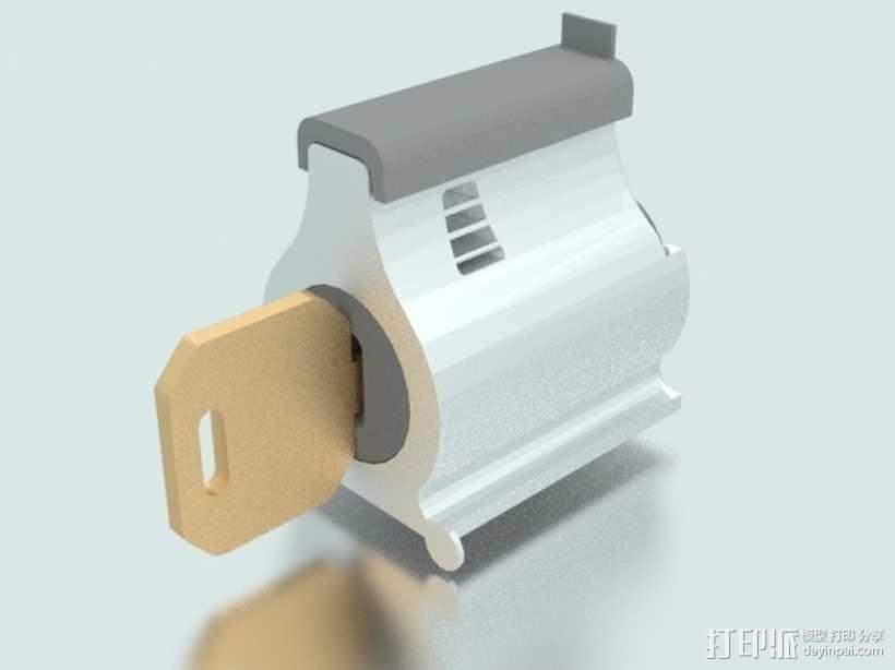 弹子锁 3D模型  图1