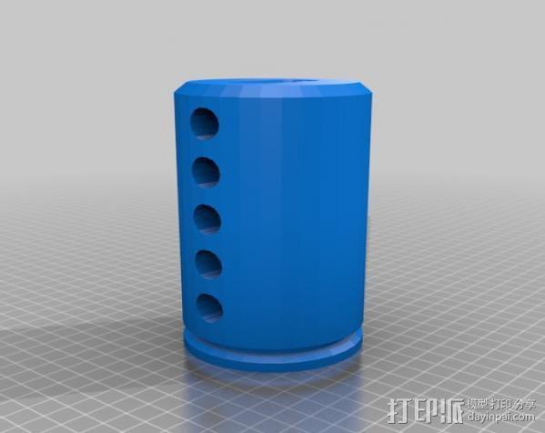 弹子锁 3D模型  图3