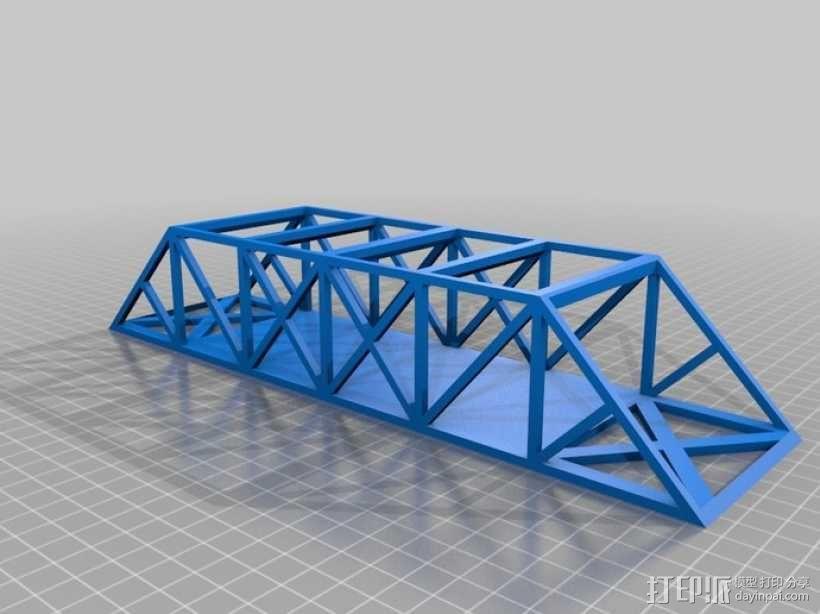 桁架桥模型 3D模型  图1