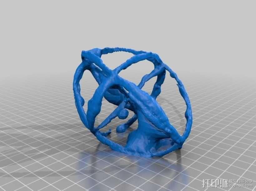 折射率椭球模型 3D模型  图2