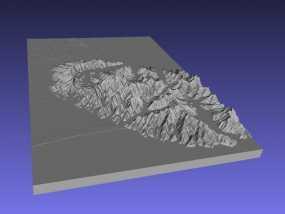 基督城地区地形图 3D模型
