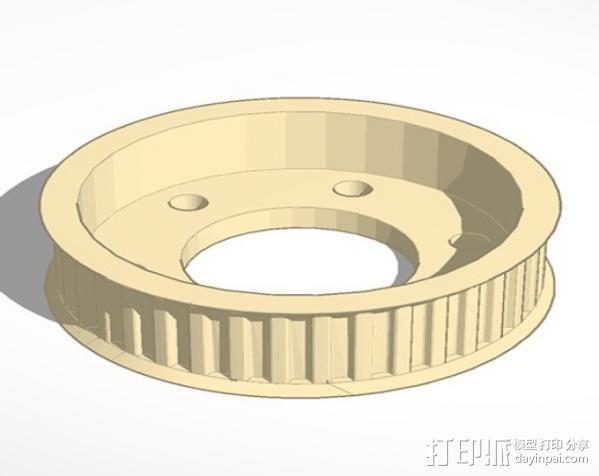 盘毂 3D模型  图2