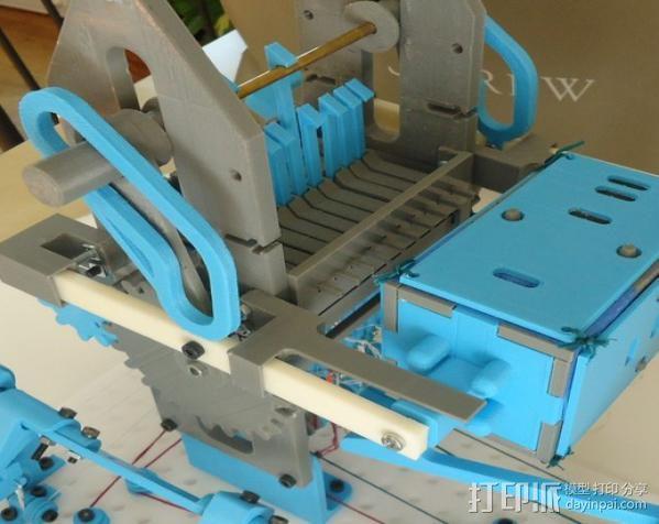 穿孔卡阅读器 3D模型  图1