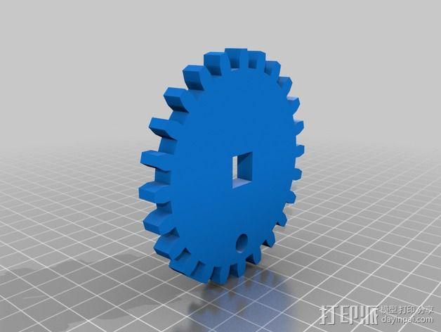 穿孔卡阅读器 3D模型  图2