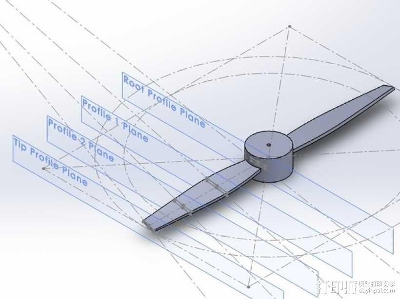 风力涡轮机 3D模型  图1
