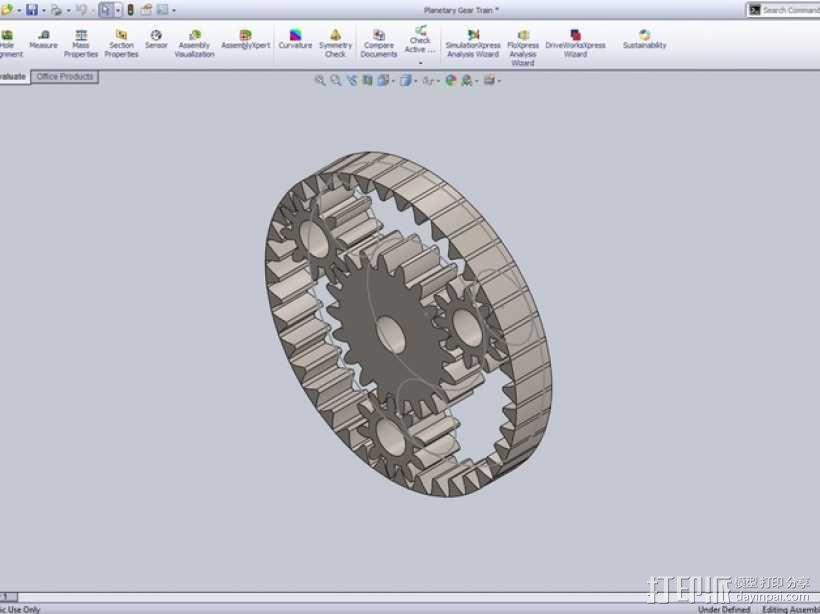 行星齿轮 3D模型  图1