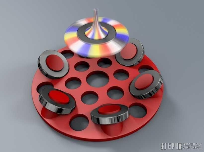 悬浮的飞碟 3D模型  图1