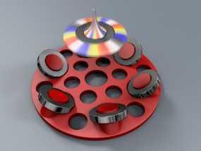 悬浮的飞碟 3D模型