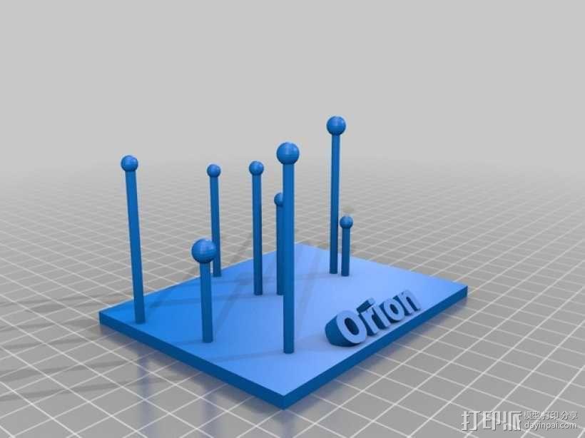 猎户座 星群 3D模型  图1