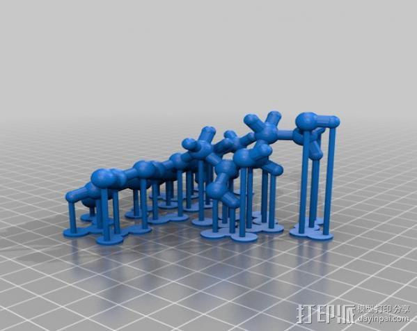 核黄素分子模型 3D模型  图1