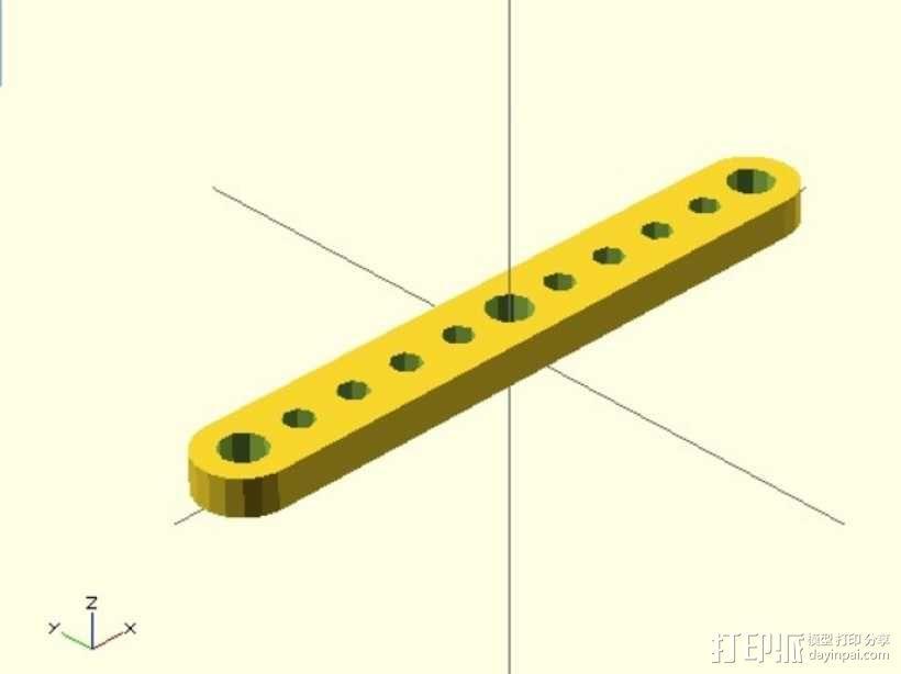 剪刀式升降机升降臂 3D模型  图1