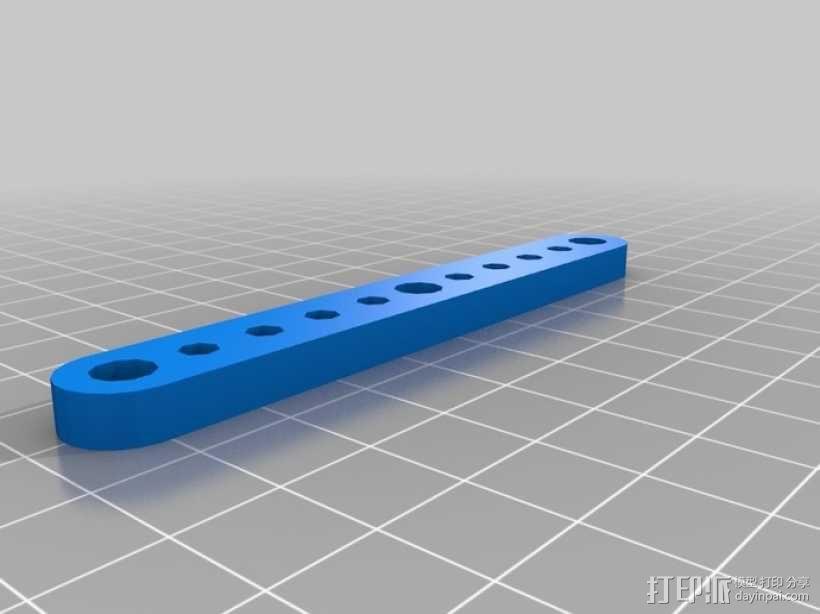 剪刀式升降机升降臂 3D模型  图2