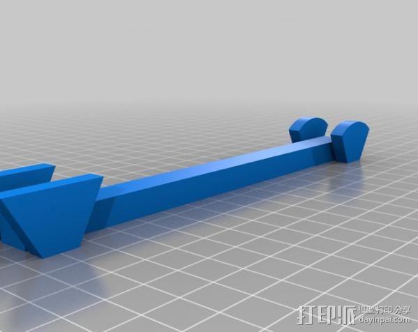 支撑梁 3D模型  图2