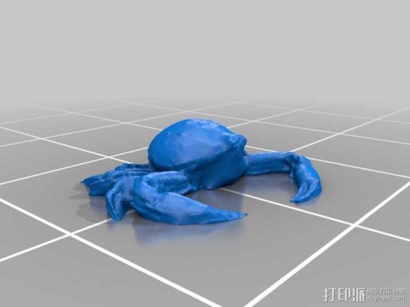 斑点蟹模型 3D模型  图1