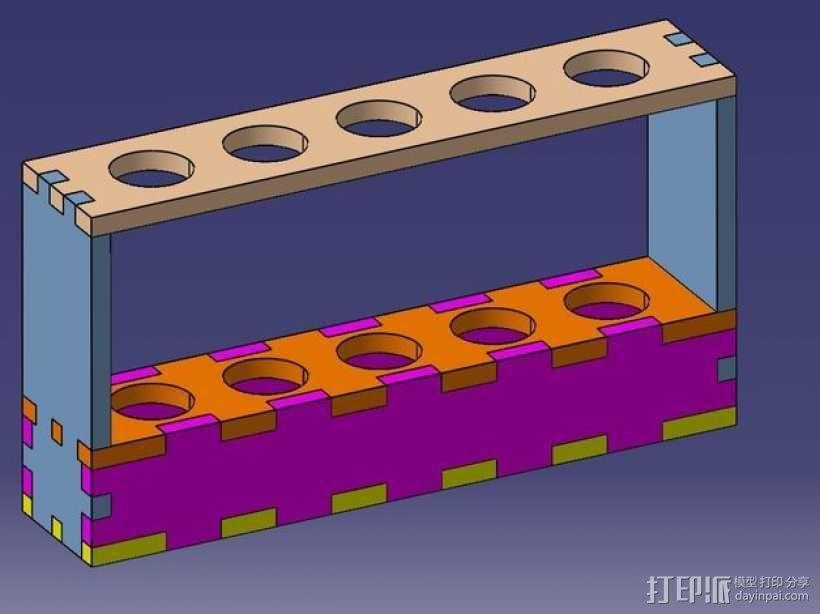 试管架 3D模型  图2