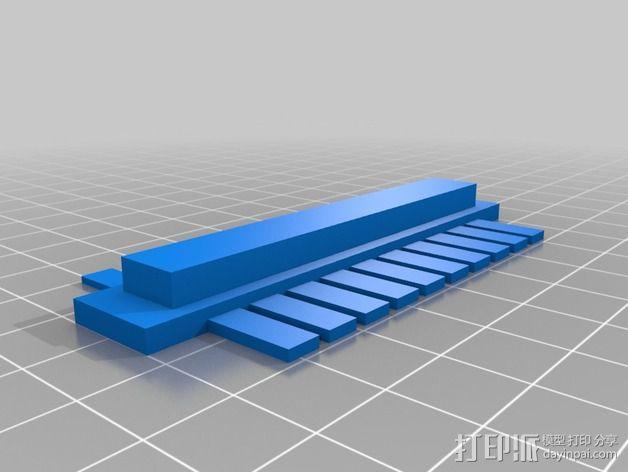 塑料梳子 3D模型  图2