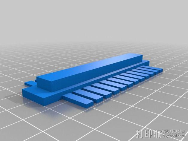 塑料梳子 3D模型  图4