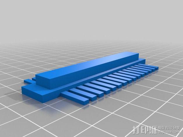 塑料梳子 3D模型  图3