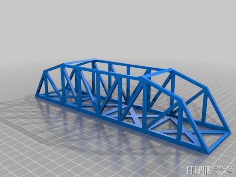桥桁架 模型 3D模型  图2