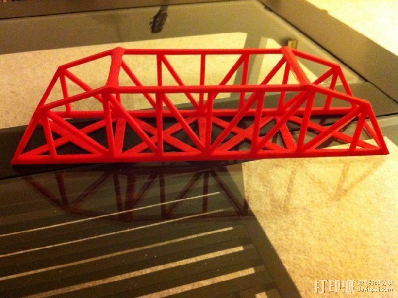 桥桁架 模型 3D模型  图1