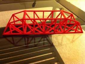 桥桁架 模型 3D模型