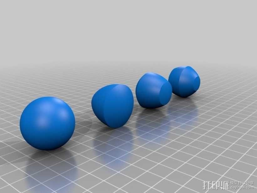 非圆球体 3D模型  图1