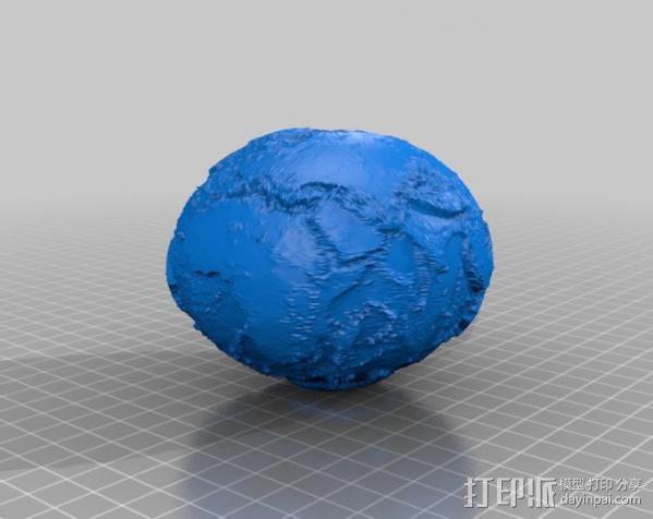 没有海的地球 3D模型  图2