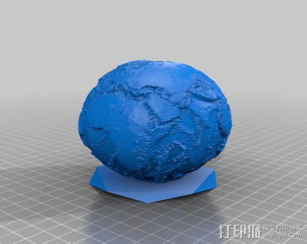 没有海的地球 3D模型  图3