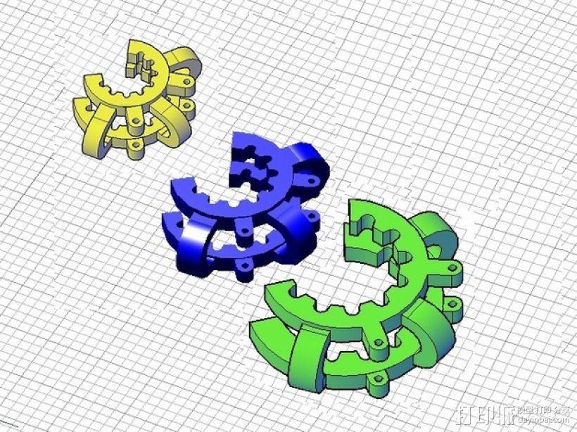 磨砂玻璃夹 3D模型  图1