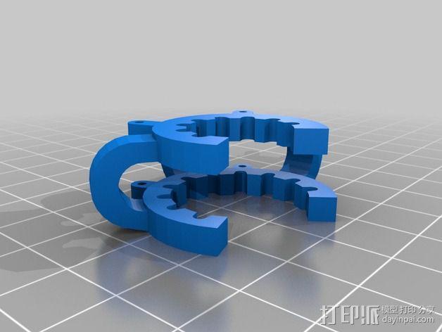 磨砂玻璃夹 3D模型  图2