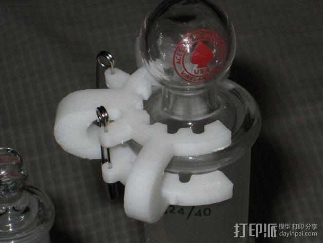 磨砂玻璃夹 3D模型  图3
