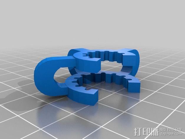 磨砂玻璃夹 3D模型  图7