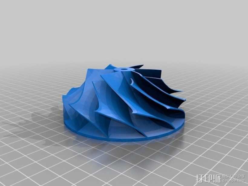 涡轮增压器叶轮 3D模型  图2