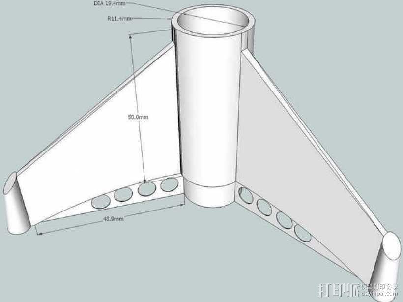 BT20火箭模型 3D模型  图1