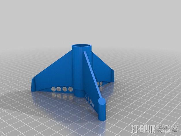 BT20火箭模型 3D模型  图3