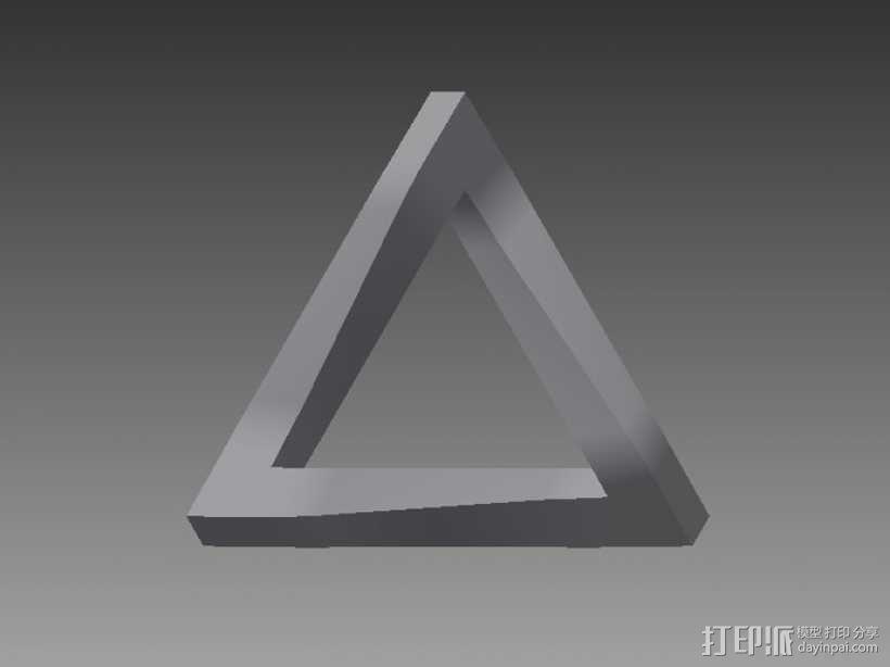 参数化潘洛斯三角形 3D模型  图2