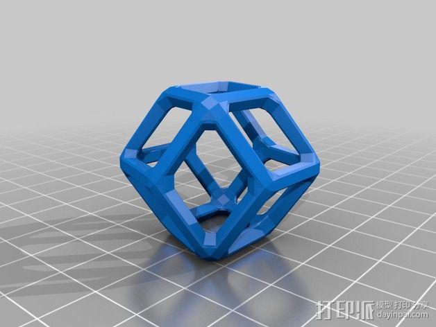 菱形十二面体 3D模型  图2