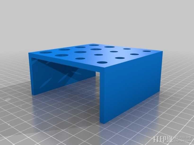 微量离心管 管架 3D模型  图2