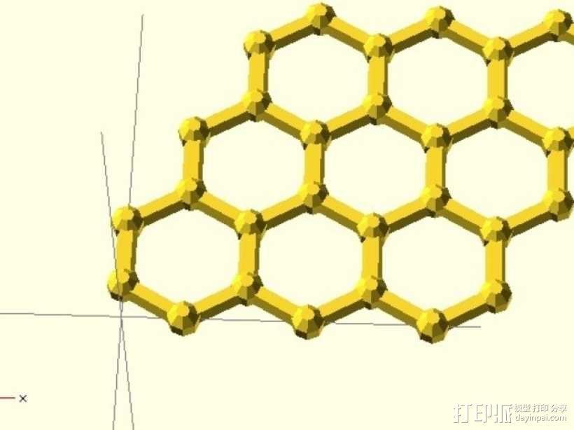 石墨烯分子模型 3D模型  图1