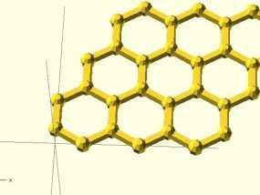 石墨烯分子模型 3D模型