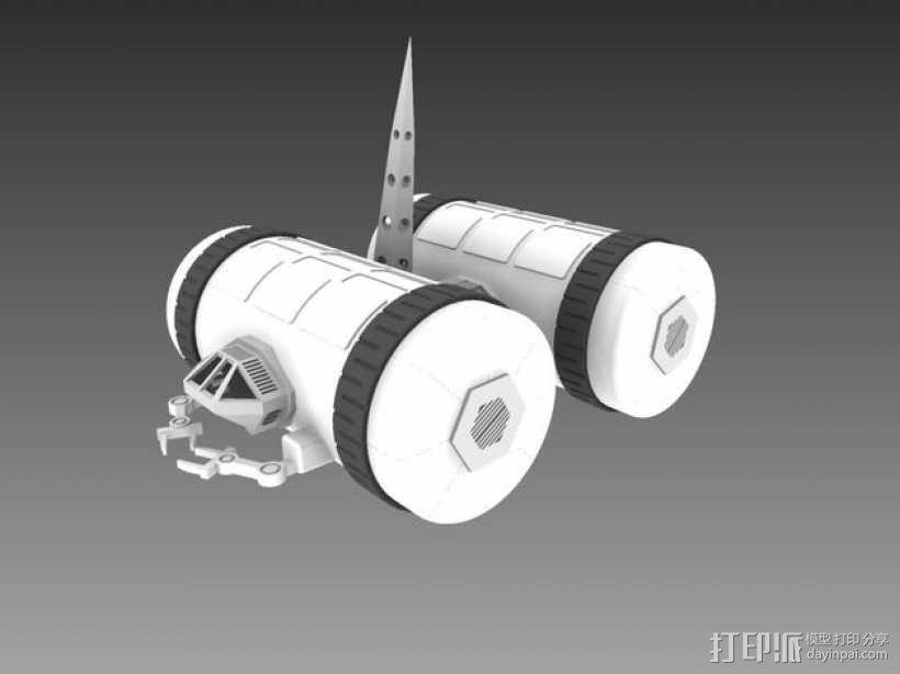 模块化移动火星基地 3D模型  图1