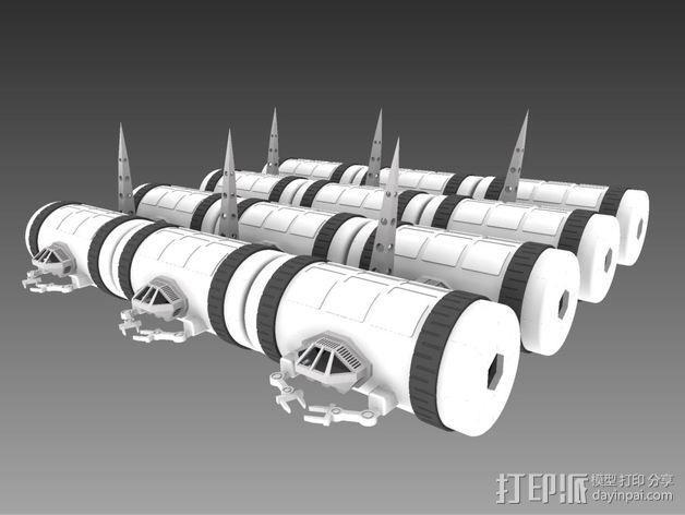 模块化移动火星基地 3D模型  图4