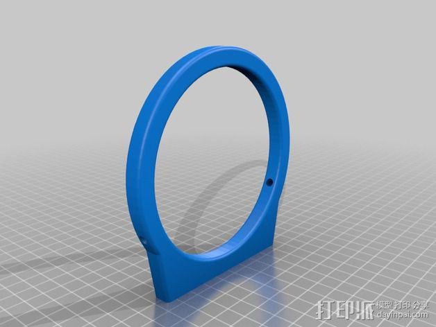 导星镜卡环 3D模型  图3