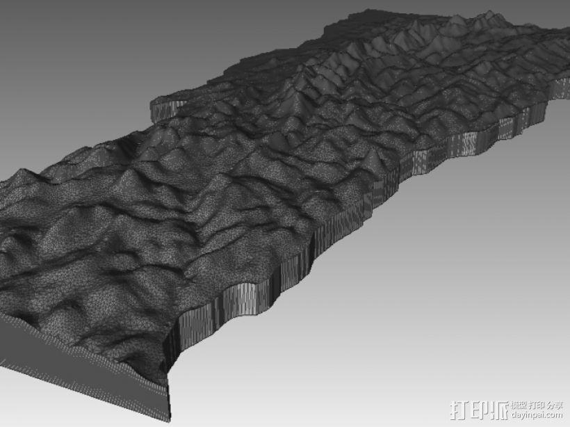 福蒙特州地形图模型 3D模型  图3